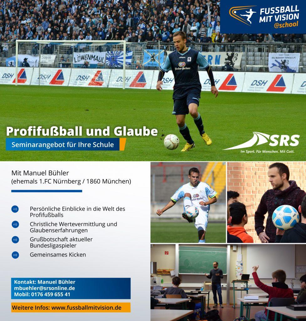 Profifußballer Manuel Bühler zu Besuch